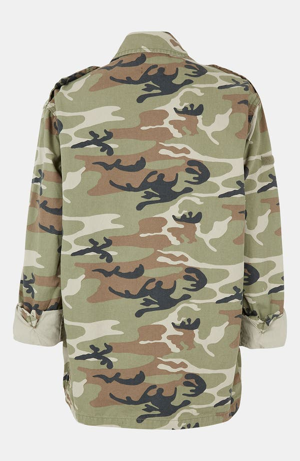 Alternate Image 2  - Topshop Camo Army Jacket
