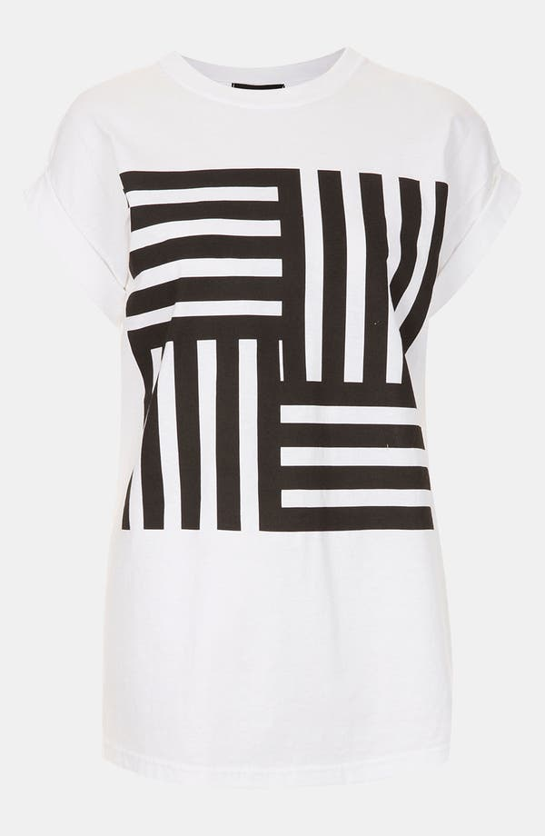 Main Image - Topshop Elemental Stripe Graphic Tee