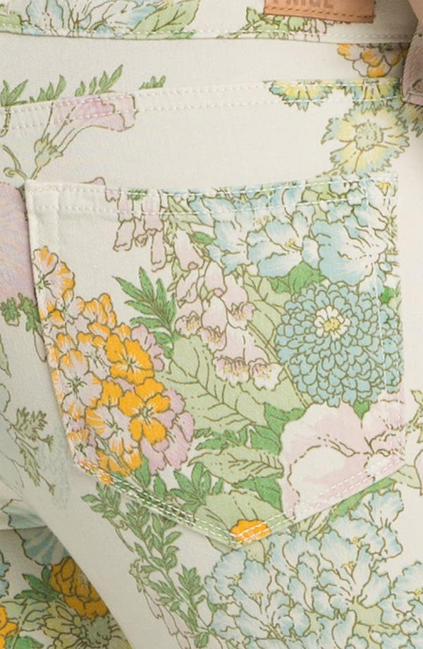Alternate Image 3  - Paige Denim 'Verdugo' Print Skinny Jeans (Flea Market Floral)