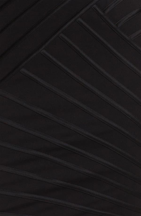 Alternate Image 3  - Tadashi Shoji Sheer Sleeve Satin Trim Sheath Dress