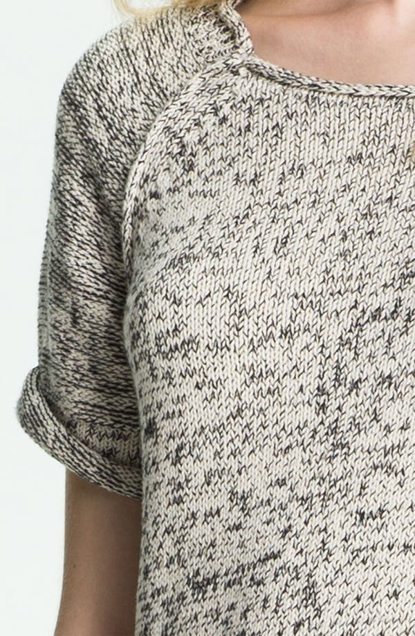Alternate Image 5  - Halston Heritage Roll Edge Mixed Yarn Sweater