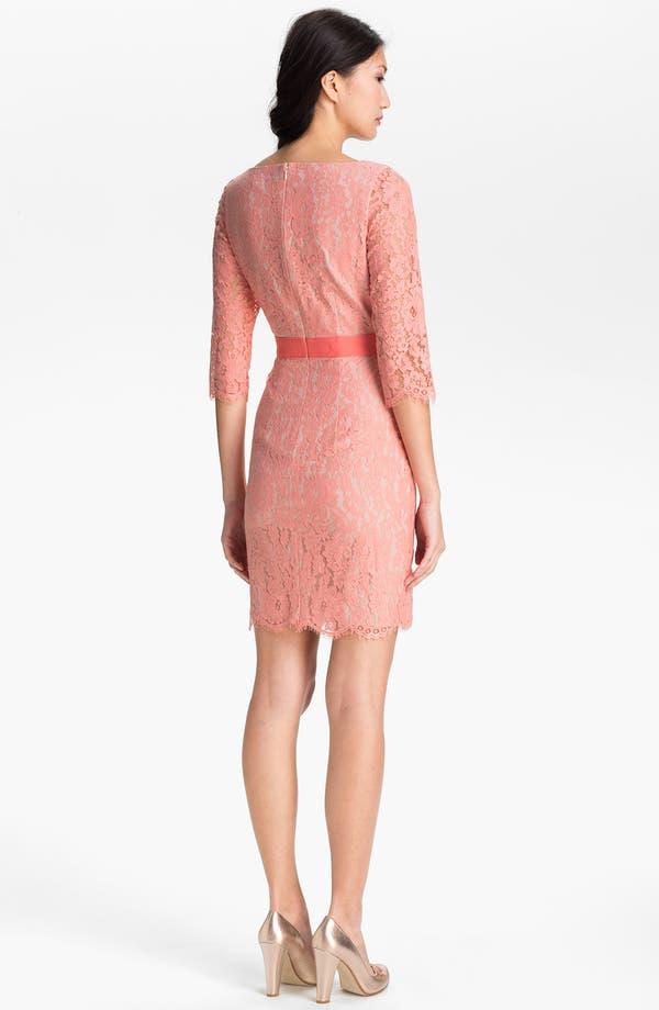 Alternate Image 2  - Eliza J Boatneck Lace Sheath Dress