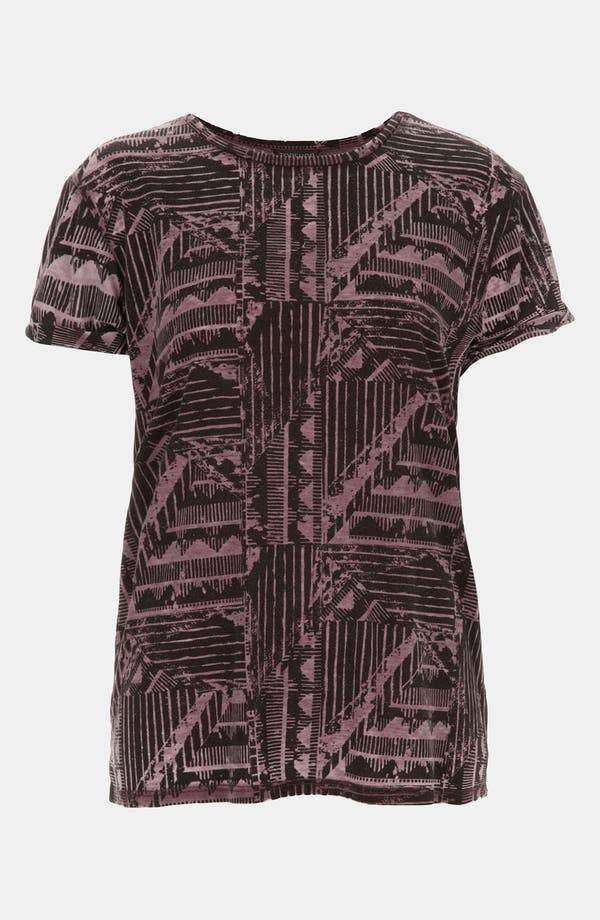 Alternate Image 1 Selected - Topshop Aztec Print Burnout Tee