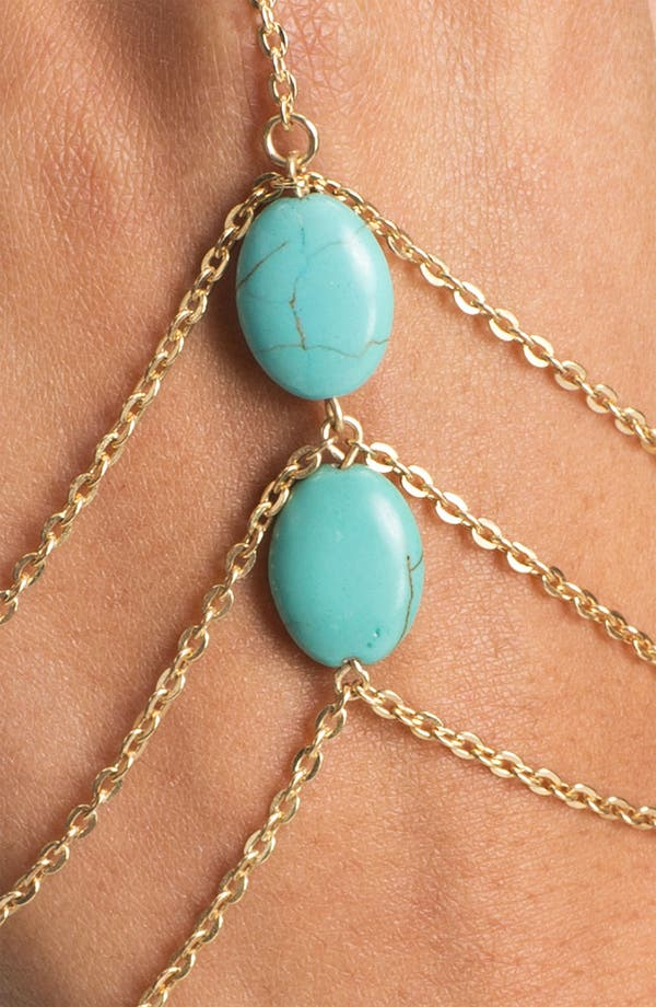 Alternate Image 2  - Carole Turquoise Hand Chain