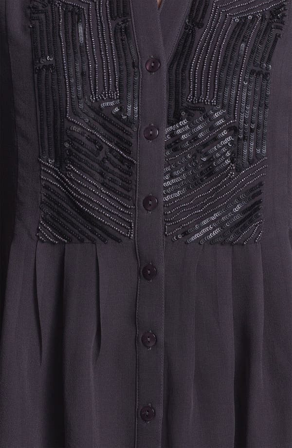 Alternate Image 3  - Kay Celine Embellished Silk Chiffon Blouse with Tank
