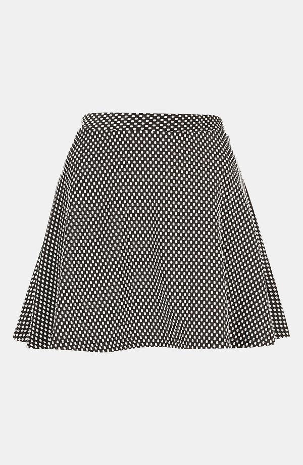 Main Image - Topshop Polka Dot Skater Skirt (Petite)