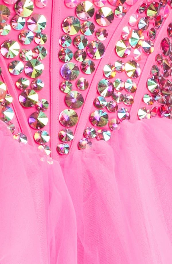 Alternate Image 3  - Sherri Hill Beaded Tulle Babydoll Dress