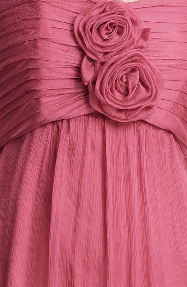 Alternate Image 3  - Amsale Strapless Rosette Detail Silk Chiffon Dress