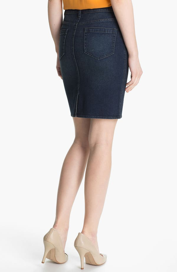 Alternate Image 2  - Two by Vince Camuto Denim Pencil Skirt