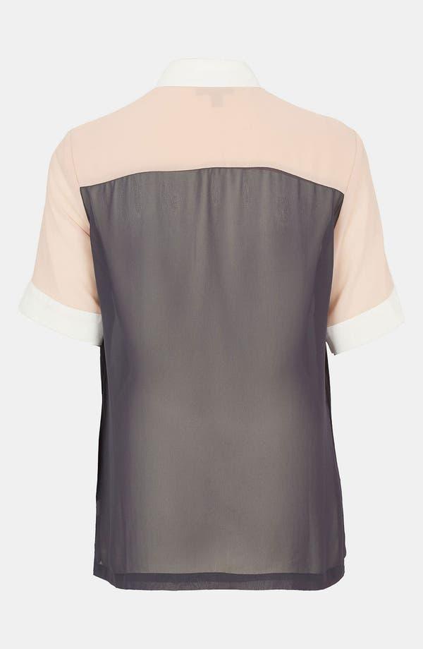 Alternate Image 2  - Topshop Colorblock Chiffon Shirt
