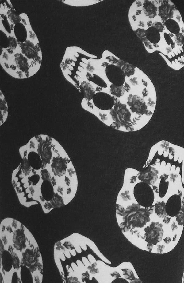 Alternate Image 3  - Mimi Chica Skull Print Leggings (Juniors)