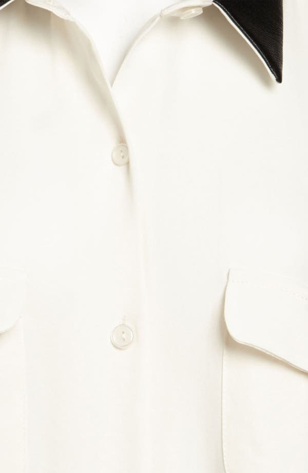 Alternate Image 3  - ASTR Faux Leather Collar Shirt