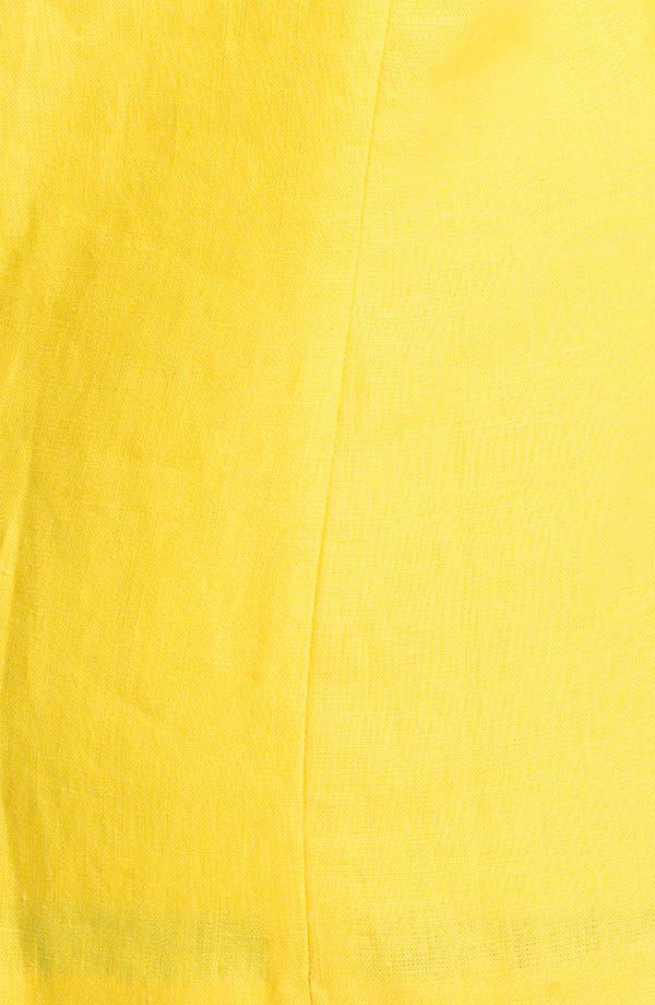 Alternate Image 3  - MICHAEL Michael Kors Shirred Linen Jacket (Plus)