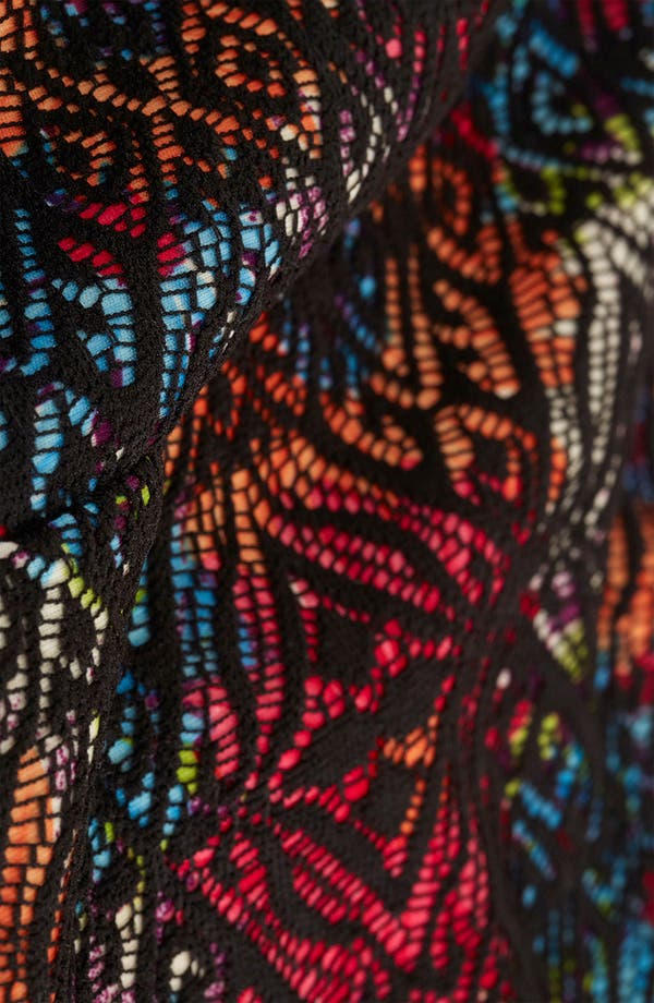 Alternate Image 3  - Topshop Lace & Floral Print Crop Top