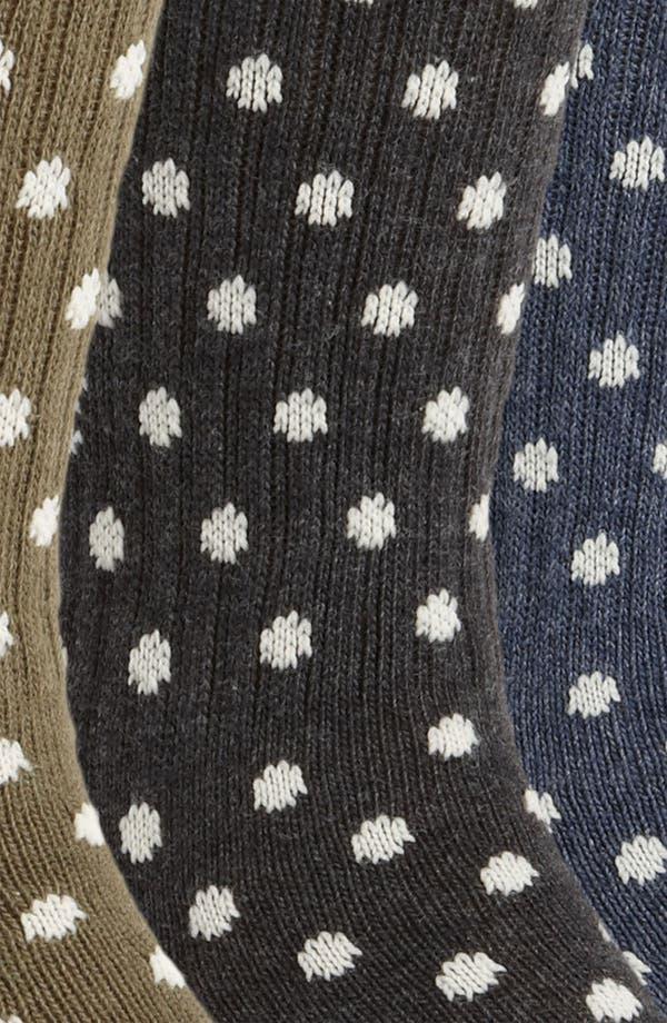 Alternate Image 2  - Vans Polka Dot Crew Socks (3-Pack)