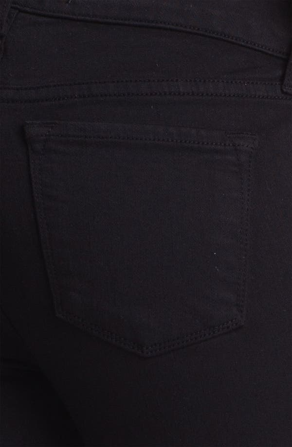 Alternate Image 3  - J Brand 'Carey' Zip Detail Moto Skinny Jeans (Black)