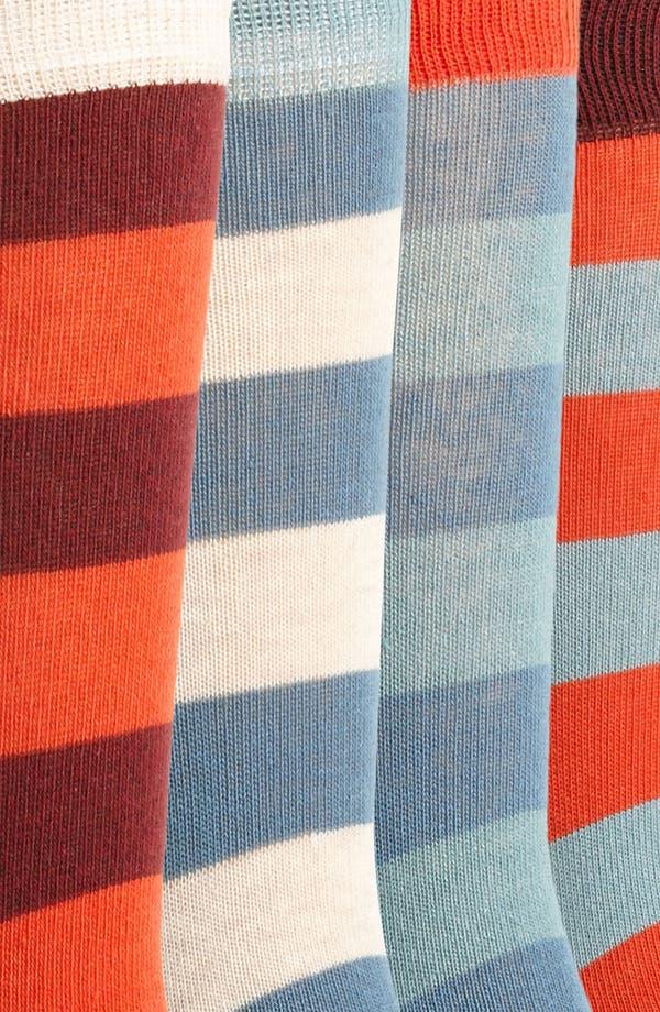 Alternate Image 2  - Topman Stripe Socks (5-Pack)