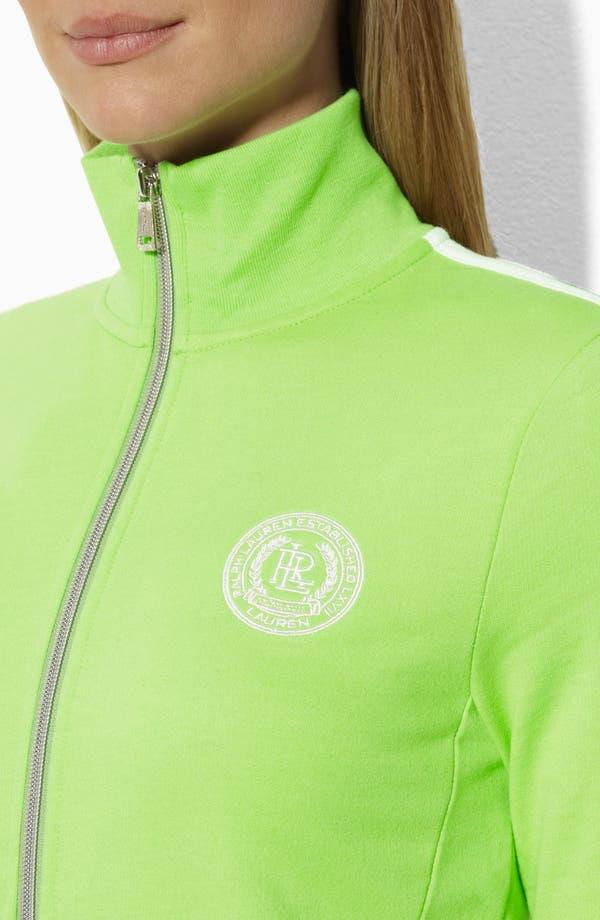 Alternate Image 3  - Lauren Ralph Lauren Mock Neck Jacket (Petite) (Online Only)