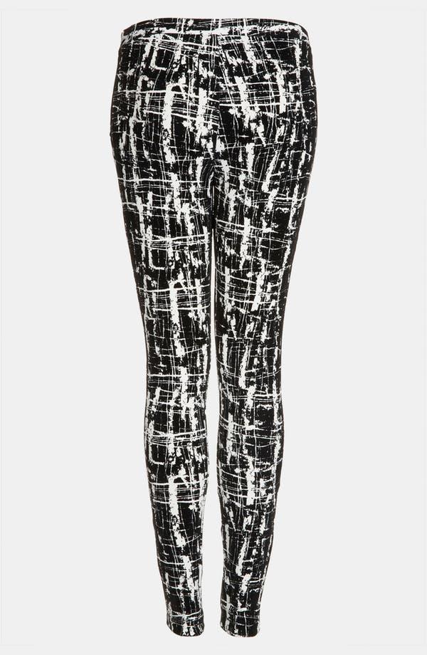 Alternate Image 2  - Topshop Flocked Scratch Print Skinny Pants