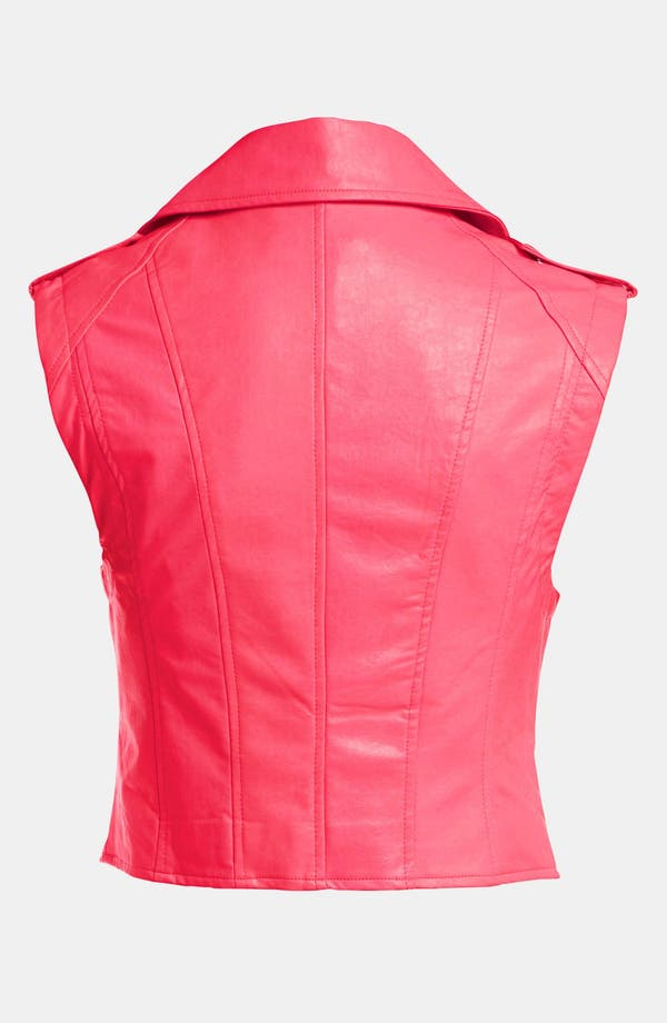 Alternate Image 2  - ASTR Faux Leather Biker Vest