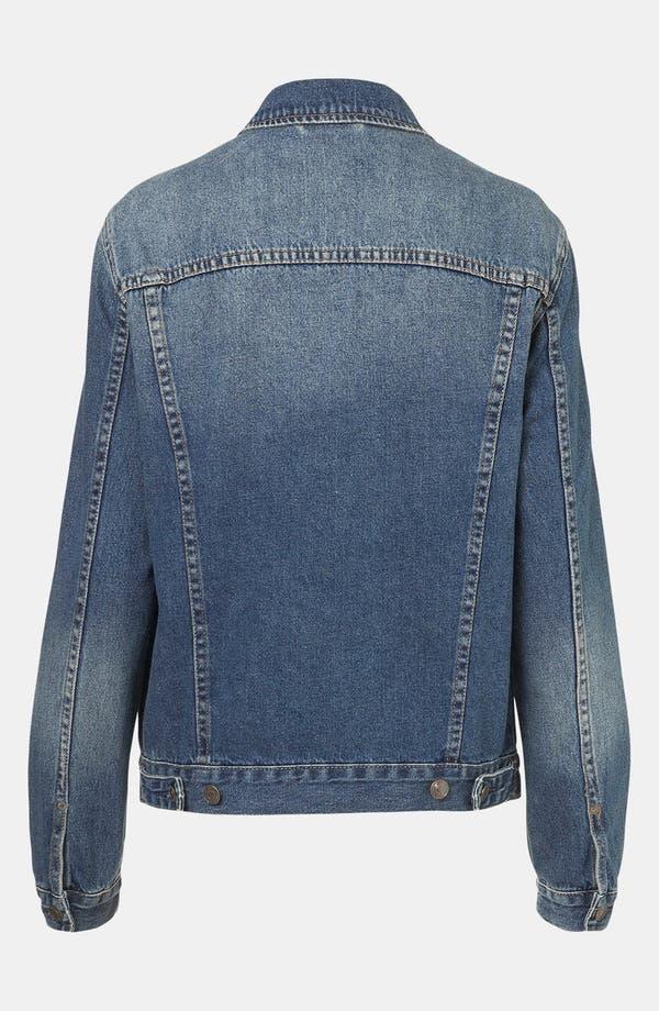 Alternate Image 2  - Topshop 'Sylvie' Oversized Denim Jacket