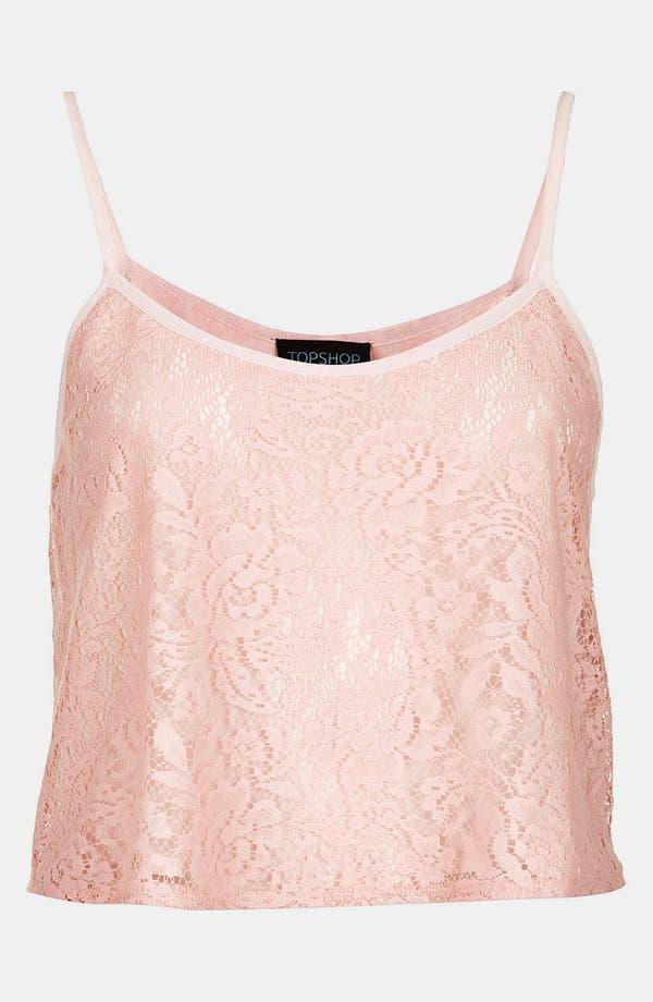 Alternate Image 3  - Topshop Crop Lace Camisole