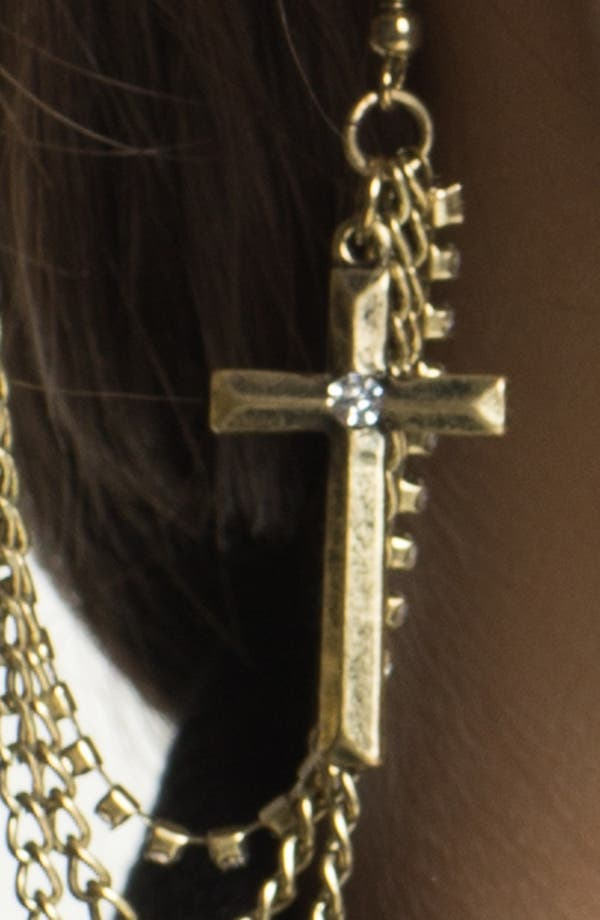 Alternate Image 2  - BP. Cross Chain Ear Cuff