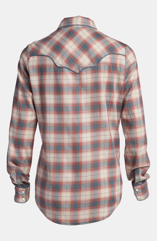 Alternate Image 2  - Leith Plaid Piped Western Shirt