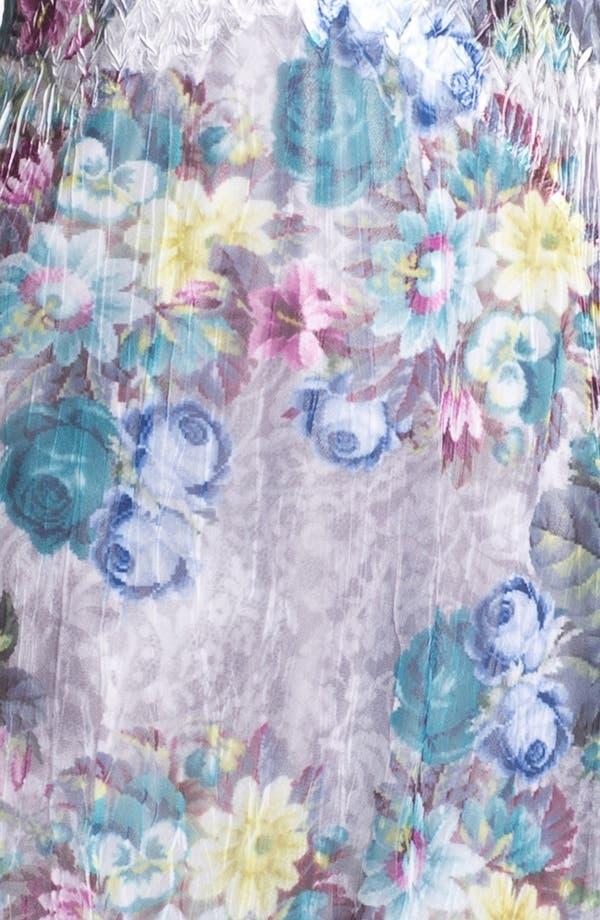 Alternate Image 3  - Komarov Floral Print Textured Chiffon Dress