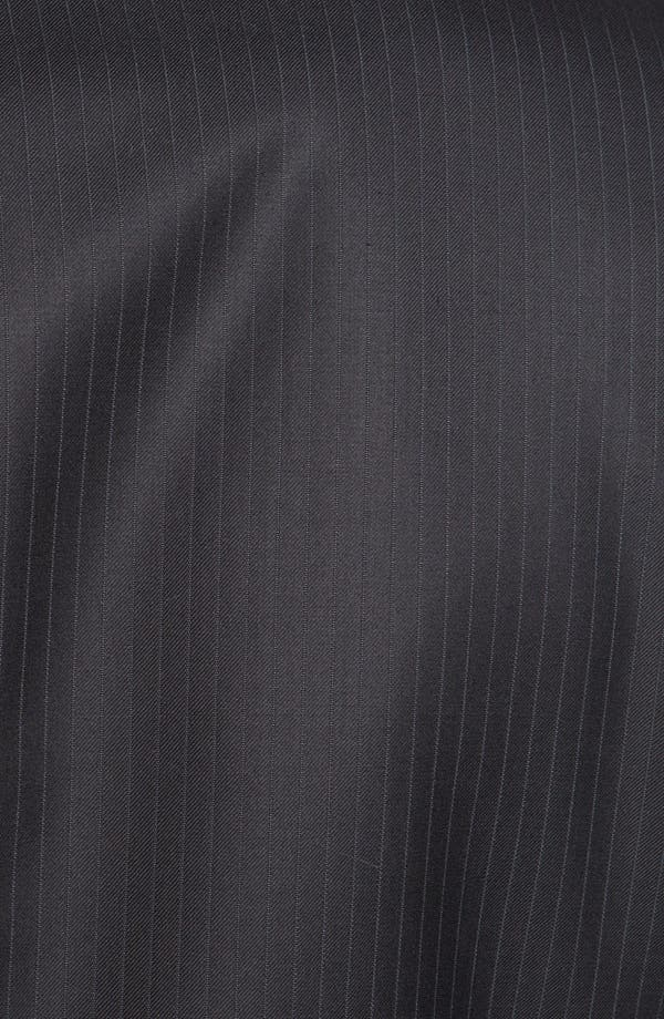 Alternate Image 6  - Hickey Freeman Stripe Wool Blend Suit