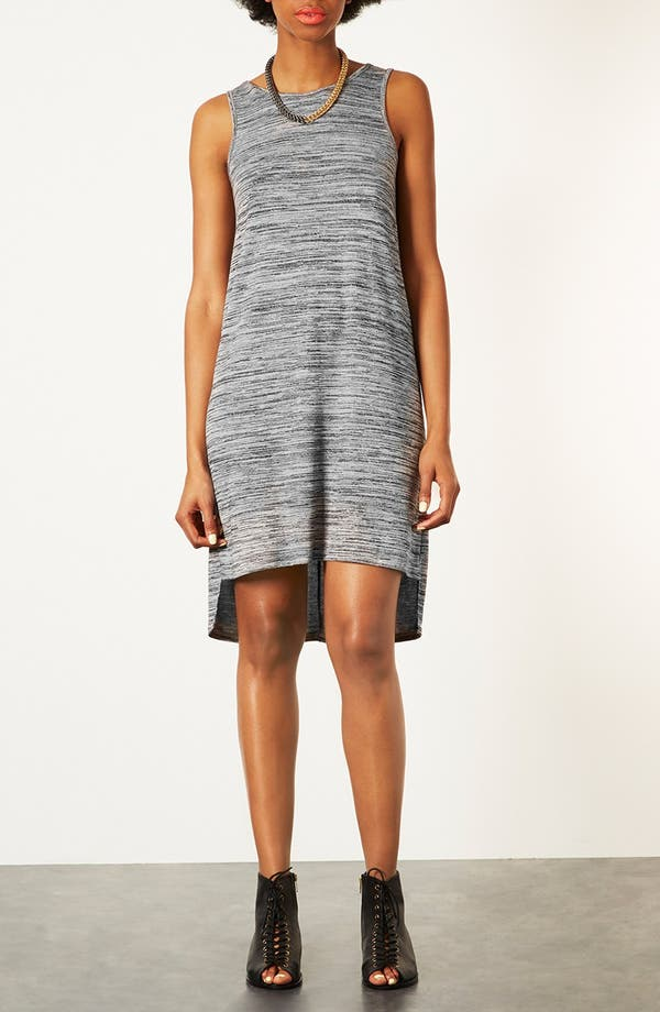 Alternate Image 1 Selected - Topshop V-Back Marled Dress