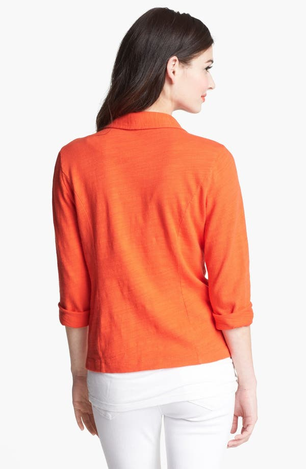 Alternate Image 2  - Caslon® Roll Sleeve Knit Blazer
