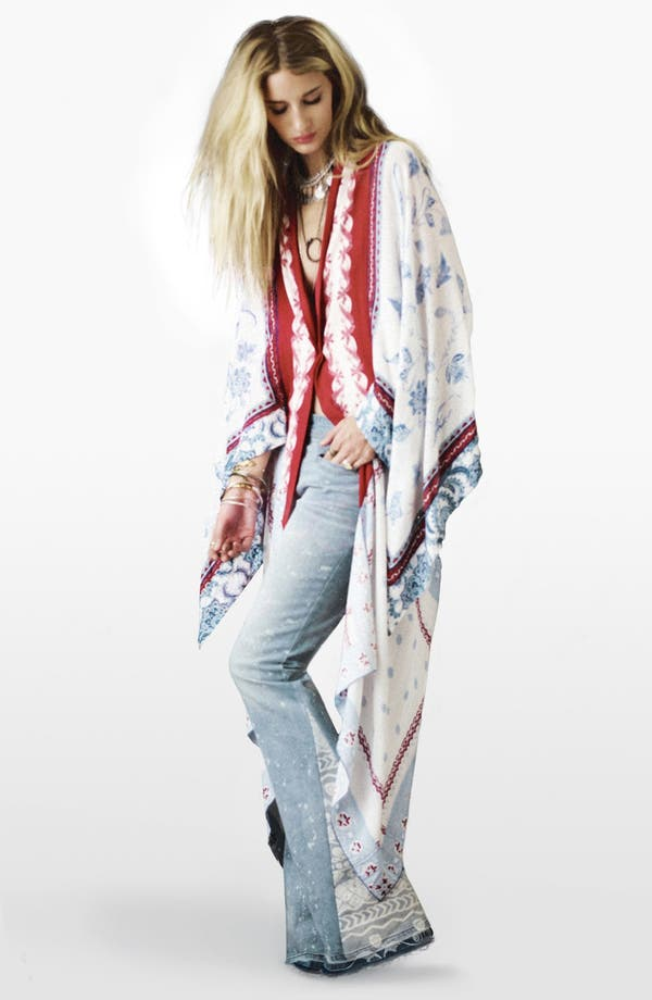 Alternate Image 1 Selected - Free People Tie Dye Tee & Flare Leg Jeans