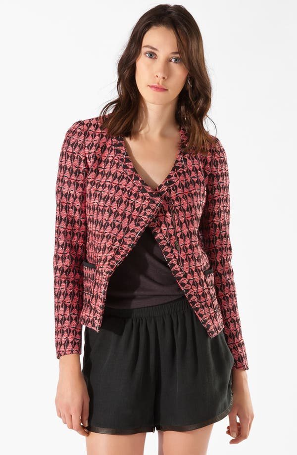 Alternate Image 1 Selected - maje 'Cafe' Jacquard Blazer