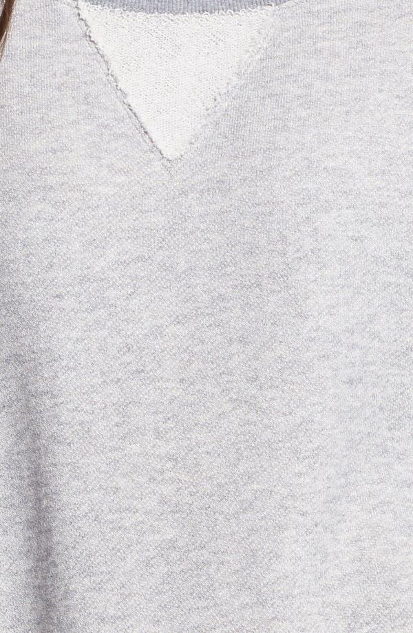 Alternate Image 3  - BP. Roll Sleeve Side Zip Long Sweatshirt (Juniors)