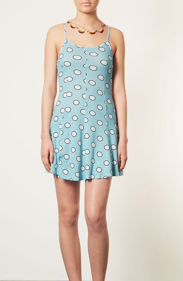 Main Image - Topshop 'Egg Spot' Strappy Flippy Dress