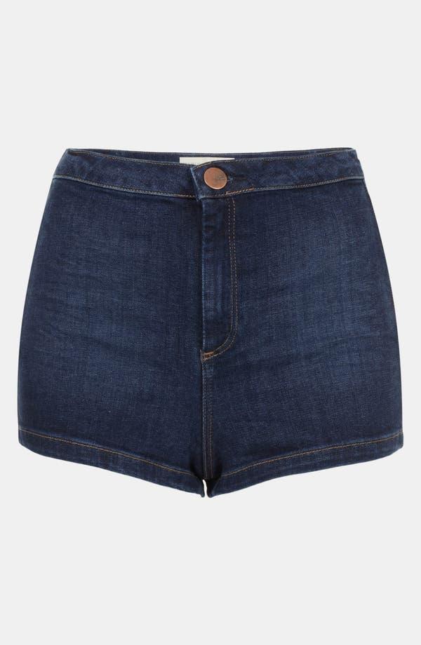 Main Image - Topshop Moto 'Indigo Francis' Denim Shorts