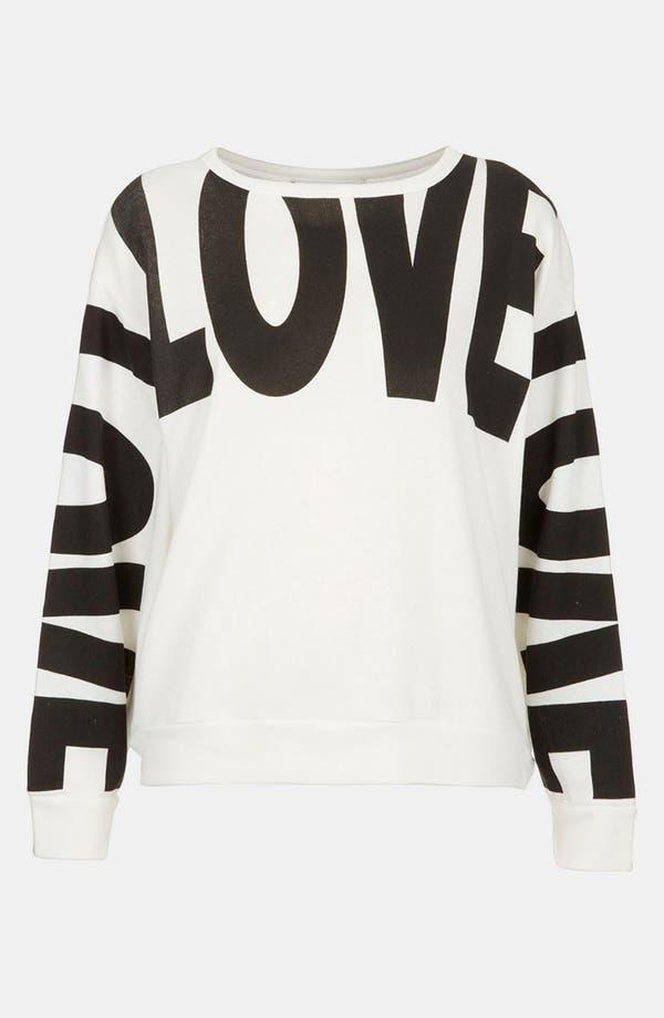 Main Image - Topshop 'Love' Sweatshirt