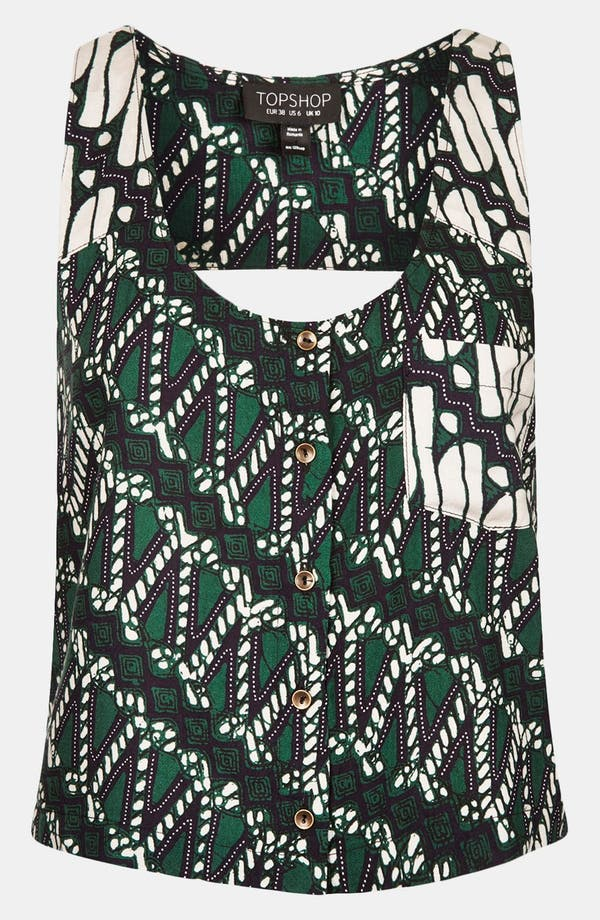 Alternate Image 1 Selected - Topshop African Print Tank Top