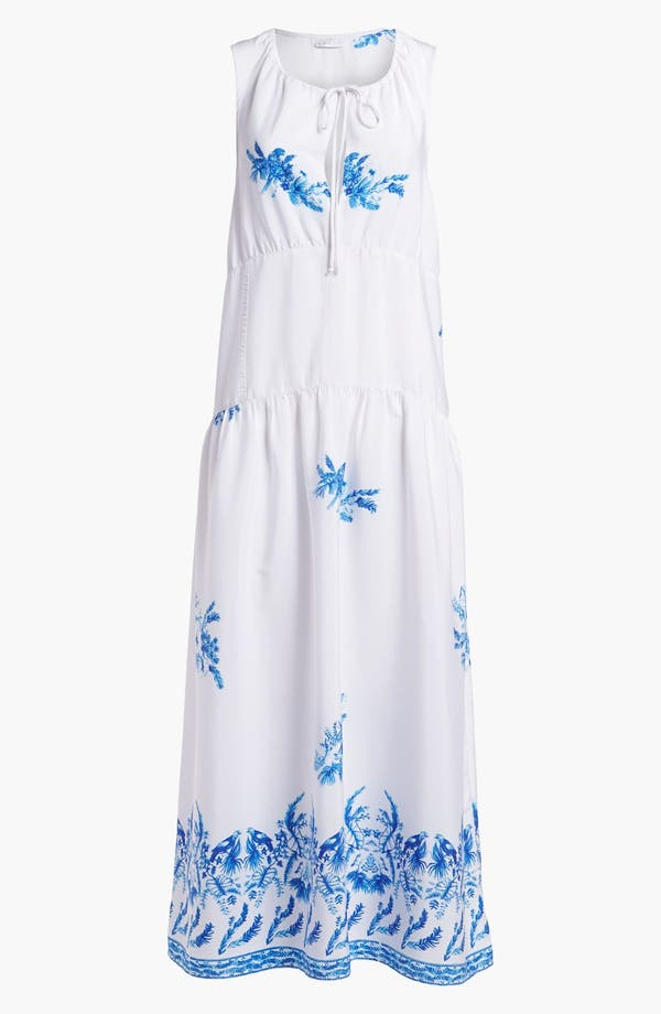 Alternate Image 1 Selected - Leith Sheer Print Slip Maxi Dress