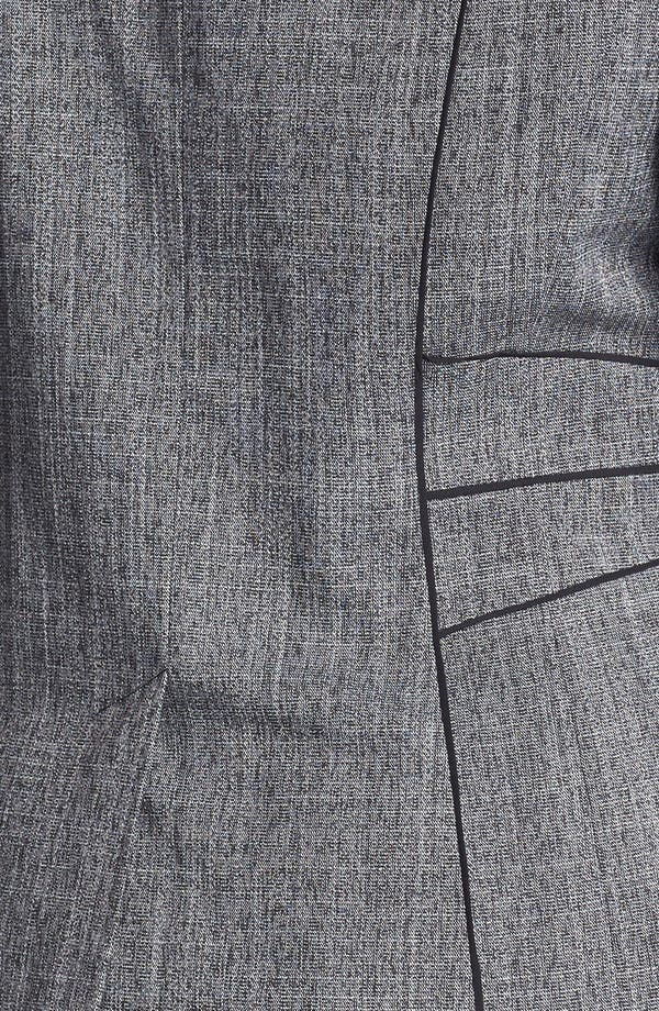 Alternate Image 3  - Sejour 'Gibson' Piped Suit Jacket (Plus Size)