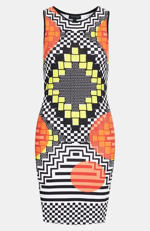 Alternate Image 3  - Topshop 'Africa Block' Body-Con Dress