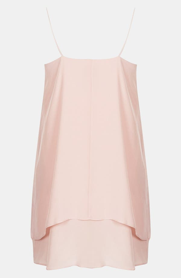 Alternate Image 2  - Topshop Boutique Double Layer Silk Slipdress