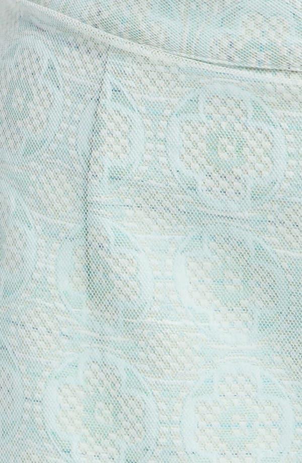 Alternate Image 4  - Topshop Mesh Overlay Jacquard Miniskirt