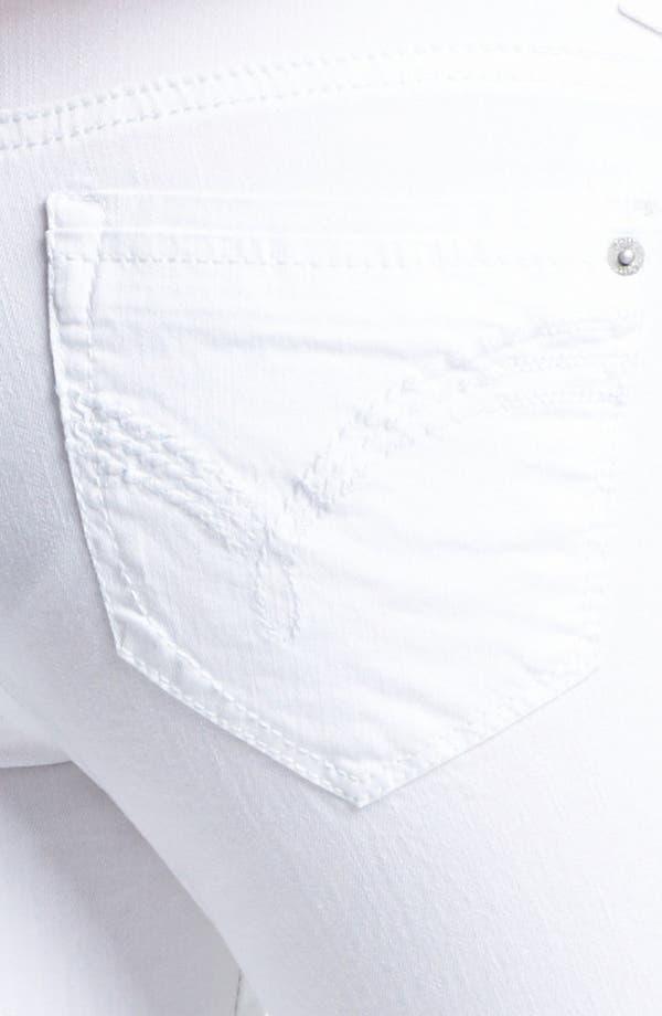 Alternate Image 3  - Jolt Crop Skinny Jeans (White) (Juniors)