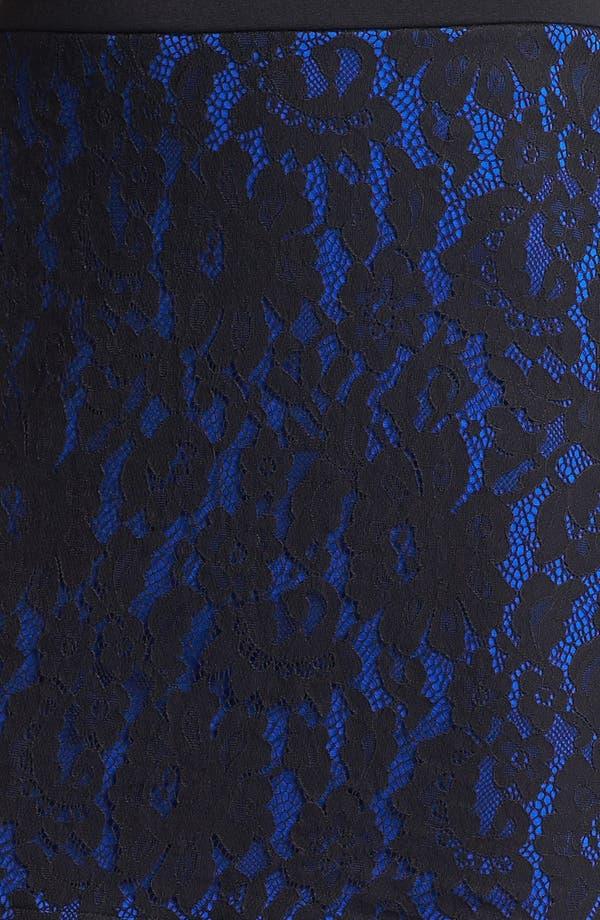 Alternate Image 3  - Robbi & Nikki Lace Panel Miniskirt