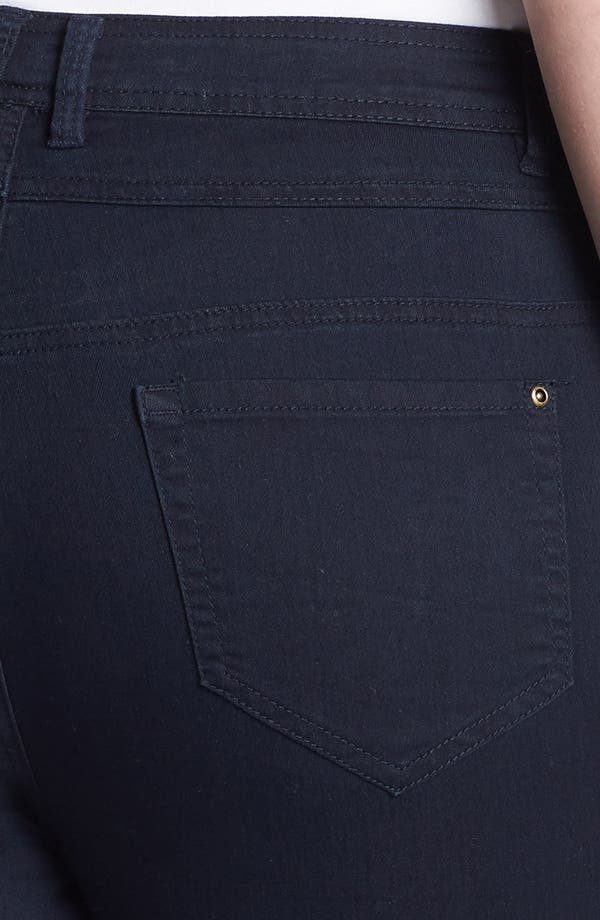Alternate Image 3  - Evans High Waist Slim Ankle Jeans (Plus Size)