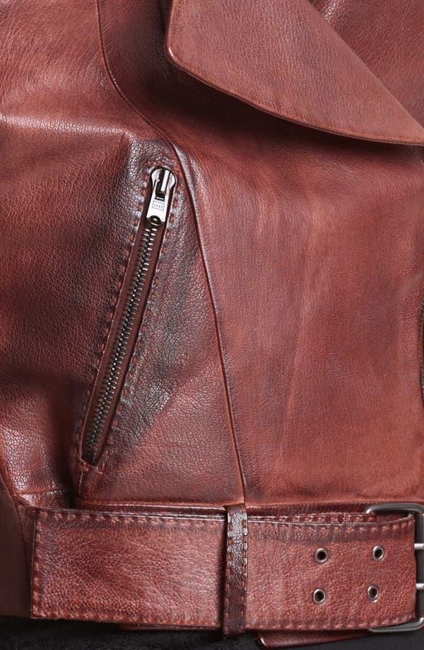 Alternate Image 3  - Donna Karan Collection Crop Leather Biker Jacket