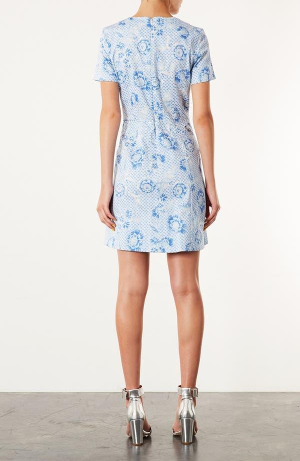 Alternate Image 2  - Topshop 'Wedgewood Check' Origami Dress
