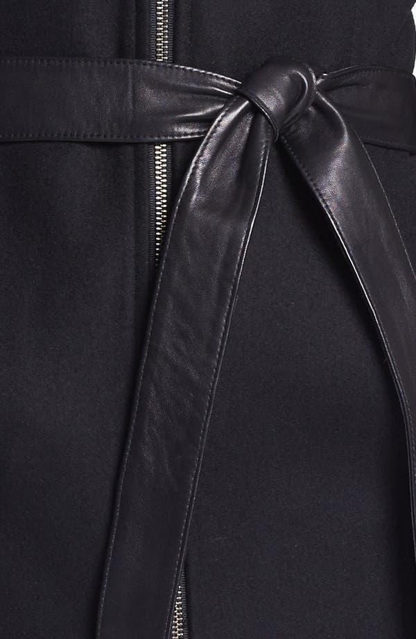 Alternate Image 3  - Soia & Kyo Hooded Wool Blend Coat with Leather Belt